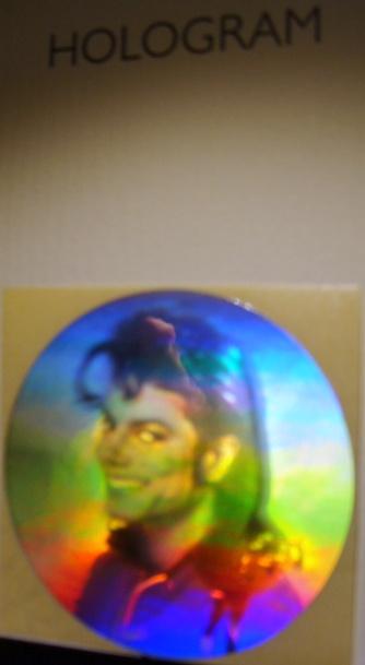 Michael Jackson hologram klistermärke