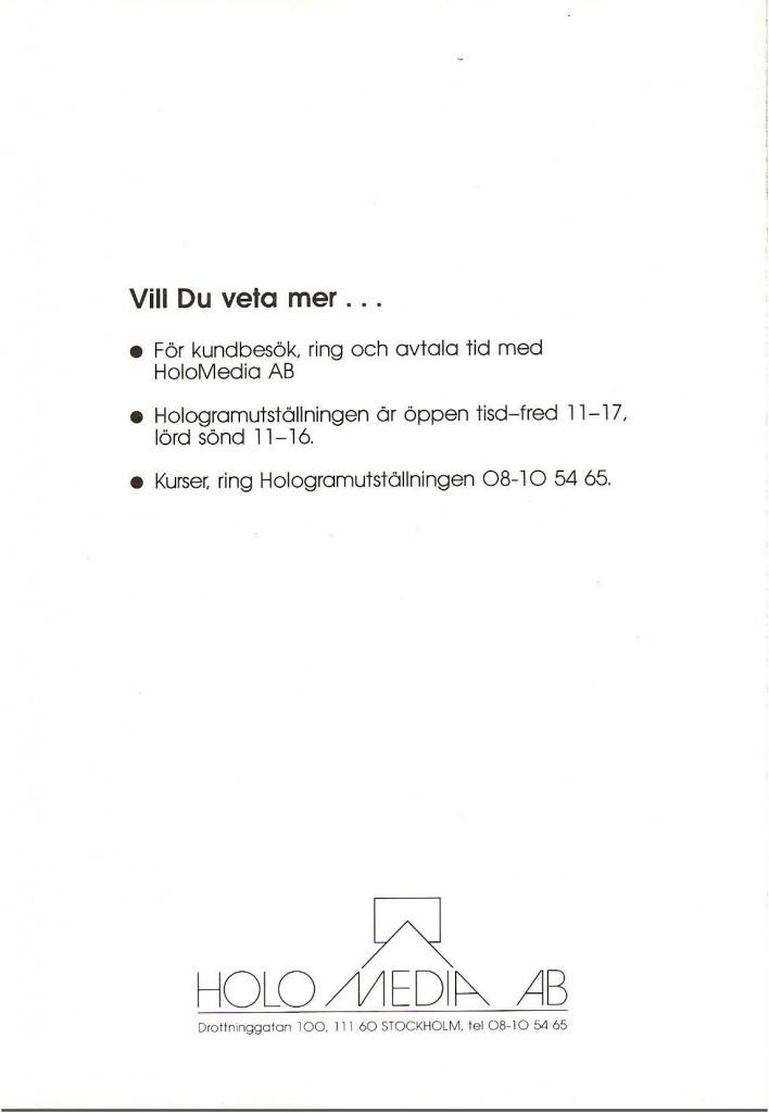 HoloMedia broschyr