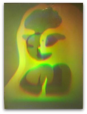 Mona Lisa Hologram på glas 30x40 cm ram 50x60 cm Konstnär, holograf Ken Harris