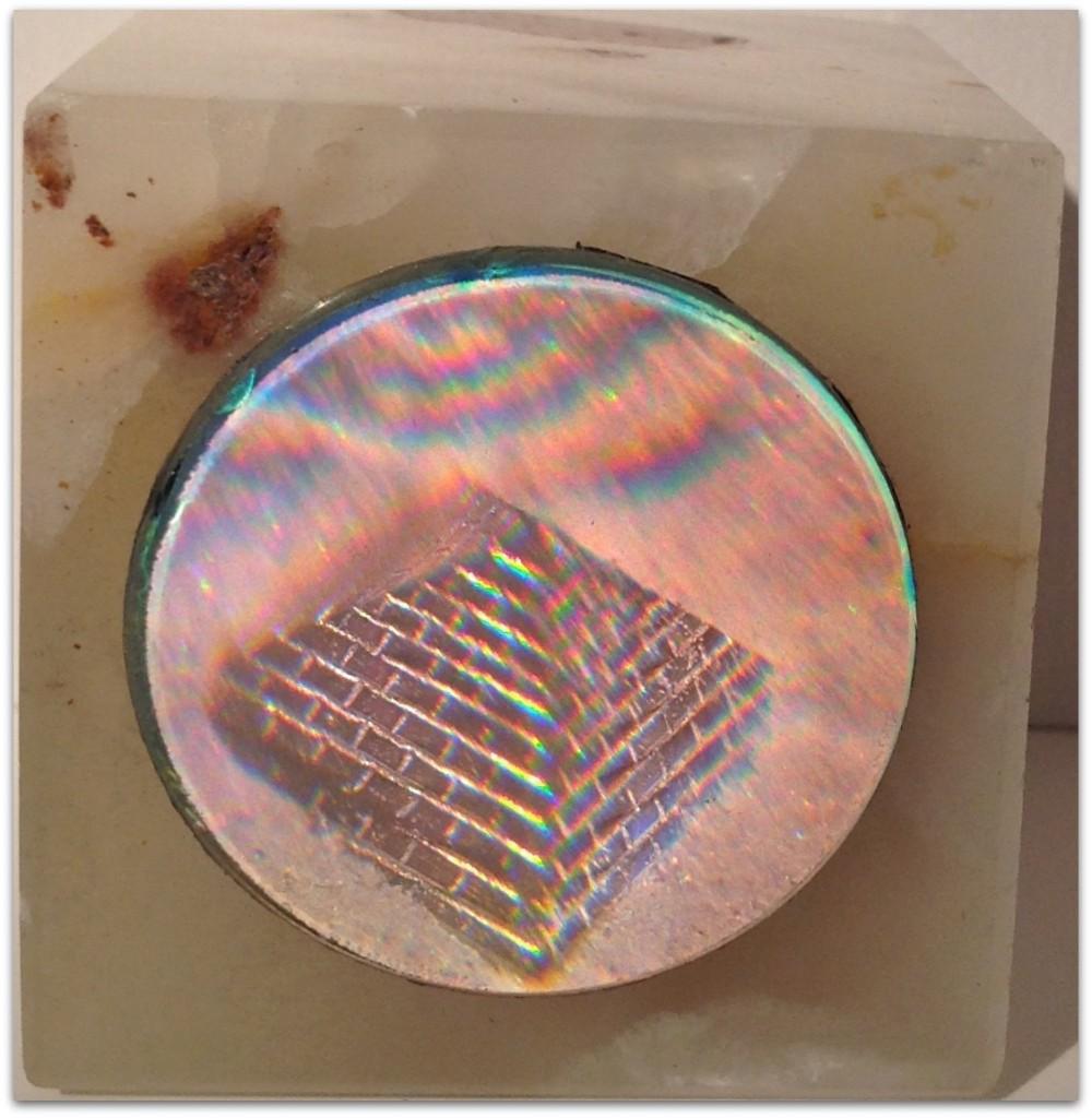 Dikromathologram brevtyngd alabaster Enda exemplaret 400:-