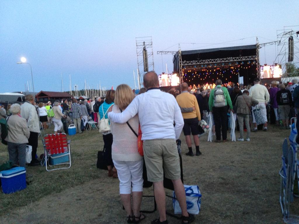 BAO konsert fullmåne vid finalen Trosa Hamn