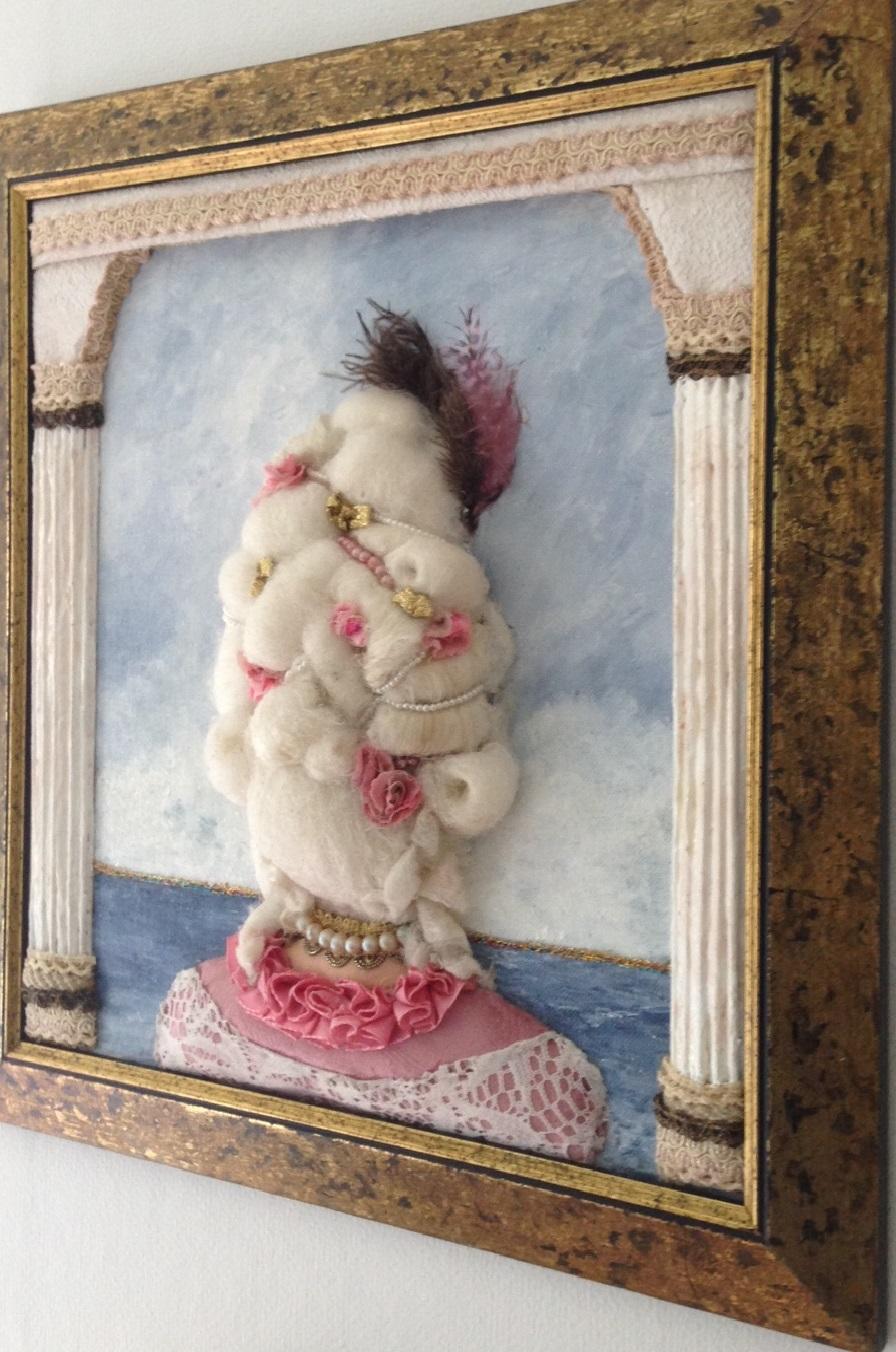 1700-tals peruk 3D tavla