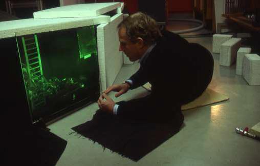 Carl Fredrik inspecting