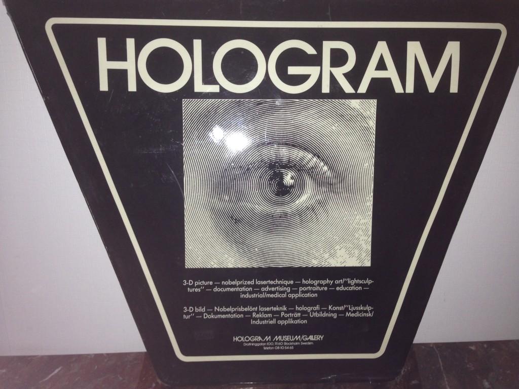 Hologram skylt golvstället