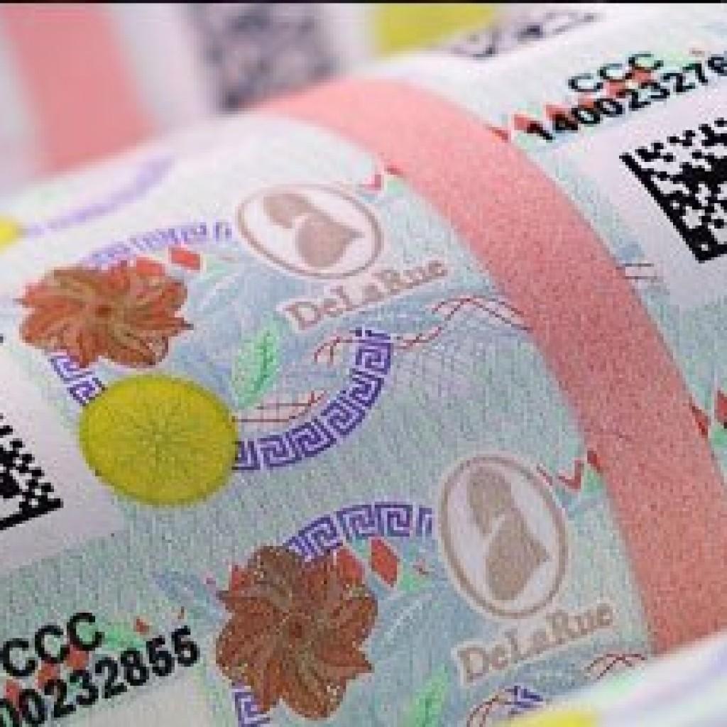 De La Rue security label barcode