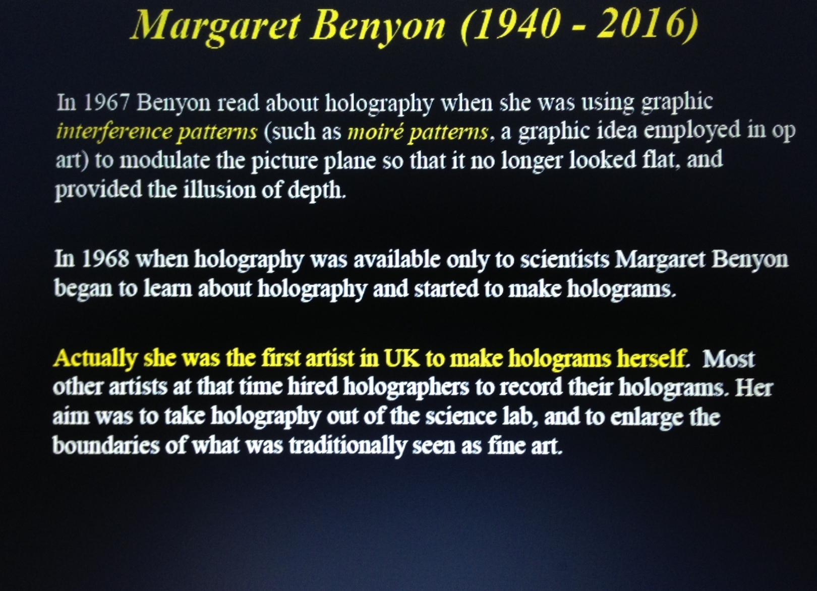Margaret Benyon 2