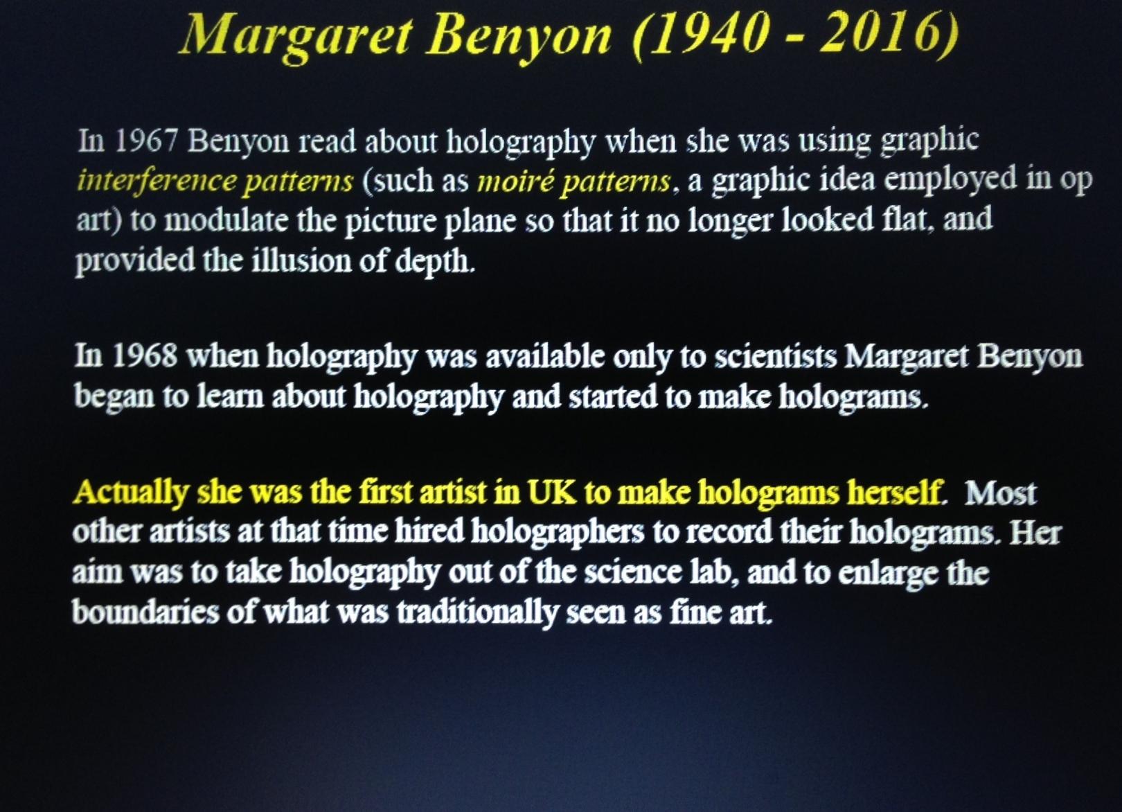 Margaret Benyon 2