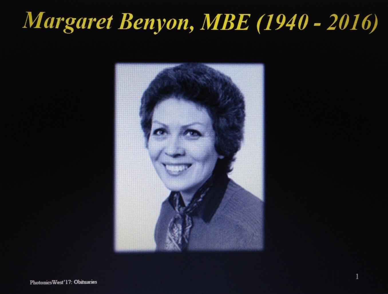 Margaret Benyon